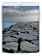 Jetty Over The Coast Duvet Cover