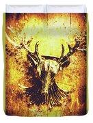 Jewel Deer Head Art Duvet Cover