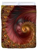 Jewel Gold  Fractal Spiral  Duvet Cover