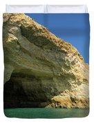 Jewel Toned Ocean Art - Colorful Sea Cave In Algarve Portugal Duvet Cover