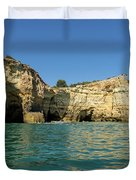 Jewel Toned Ocean Art - Gliding By Sea Caves And Secluded Beaches Duvet Cover