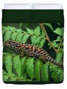 Jeweled Chameleon Furcifer Lateralis Duvet Cover