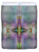 Jeweled Cross Duvet Cover