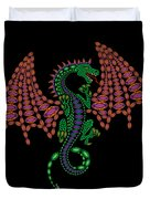 Jeweled Dragon Duvet Cover