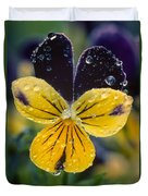 Jewelled Pansy Duvet Cover