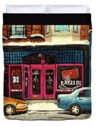 Jewish Montreal By Streetscene Artist Carole Spandau Duvet Cover
