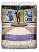 Jfk Tribute Fort Worth Duvet Cover