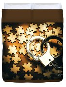 Jigsaw Of Misconduct Bribery And Entanglement Duvet Cover