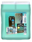 Jim Beam Signs On Display - Color Invert Duvet Cover