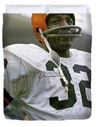 Jim Brown, Cleveland Browns, Signed Duvet Cover