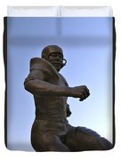The Jim Brown Statue, Cleveland Browns Nfl Football Club, Cleveland, Ohio, Usa Duvet Cover