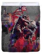 Jima Memorial  Duvet Cover