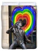 Jimi Hendrix Love On Capitol Hill Duvet Cover