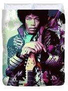 Jimi Hendrix, The Legend Duvet Cover
