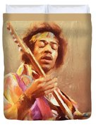 Jimi Jamming Duvet Cover