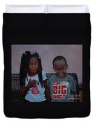 Jimia And Mr Bigshot Duvet Cover