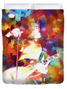 Jimmy Page Jamming Duvet Cover