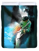 Jimmy Page Lost In Music Duvet Cover