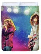 Jimmy Page - Robert Plant Duvet Cover