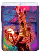 Jimmy Page Stairway To Heaven Duvet Cover by David Lloyd Glover
