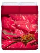 Jingle Bells 3 Poinsettia Duvet Cover