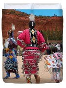 Jingle Dress And Fancy Shawl Dancers Duvet Cover