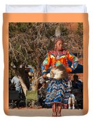 Jingle Dress Dancer At Star Feather Pow-wow Duvet Cover