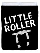 Jiu Jitsu Bjj Little Roller White Light Duvet Cover