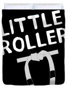 Jiu Jitsu Bjj Little Roller White Light Duvet Cover