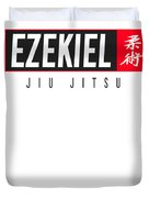 Jiu Jitsu Black Belt Ezekiel Dark Gift Martial Arts Bjj Duvet Cover