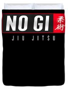 Jiu Jitsu Black Belt No Gi Light Gift Martial Arts Bjj Duvet Cover