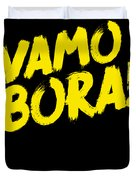 Jiu Jitsu Design Vamo Bora Yellow Light Martial Arts Duvet Cover