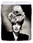 Joan Crawford, Hollywood Legend By John Springfield Duvet Cover