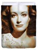 Joan Crawford, Hollywood Legends Duvet Cover