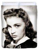 Joan Leslie, Vintage Actress Duvet Cover