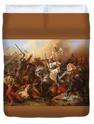 Joan Of Arc In The Battle Duvet Cover