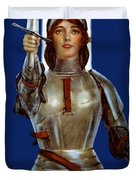 Joan Of Arc Saved France - Save Your Country Duvet Cover
