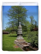 Joe And Marie Schedel Pagoda- Vertical Duvet Cover