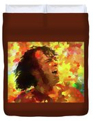 Joe Cocker Colorful Palette Knife Duvet Cover