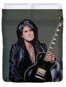 Joe Perry Of Aerosmith Painting Duvet Cover