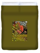 Joe-pye-weed Near Schroon River In New York Duvet Cover