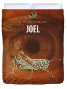 Joel Books Of The Bible Series Old Testament Minimal Poster Art Number 29 Duvet Cover