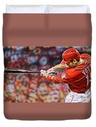 Joey Votto Baseball Duvet Cover