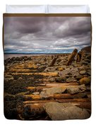 Joggins Fossil Cliffs Duvet Cover