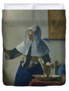 Johannes Vermeer Young_woman Duvet Cover