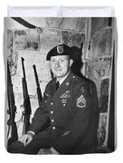 John Dane In Viet Nam  Uniform American Fork Utah 1975 Duvet Cover