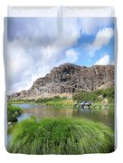 John Day River Landscape In Summer Portrait Duvet Cover