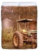John Deere Antique Duvet Cover by Debra and Dave Vanderlaan