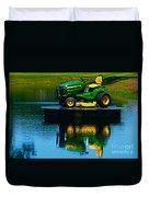 John Deere Mows The Water No 2 Duvet Cover