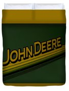 John Deere Signage Decal Duvet Cover
